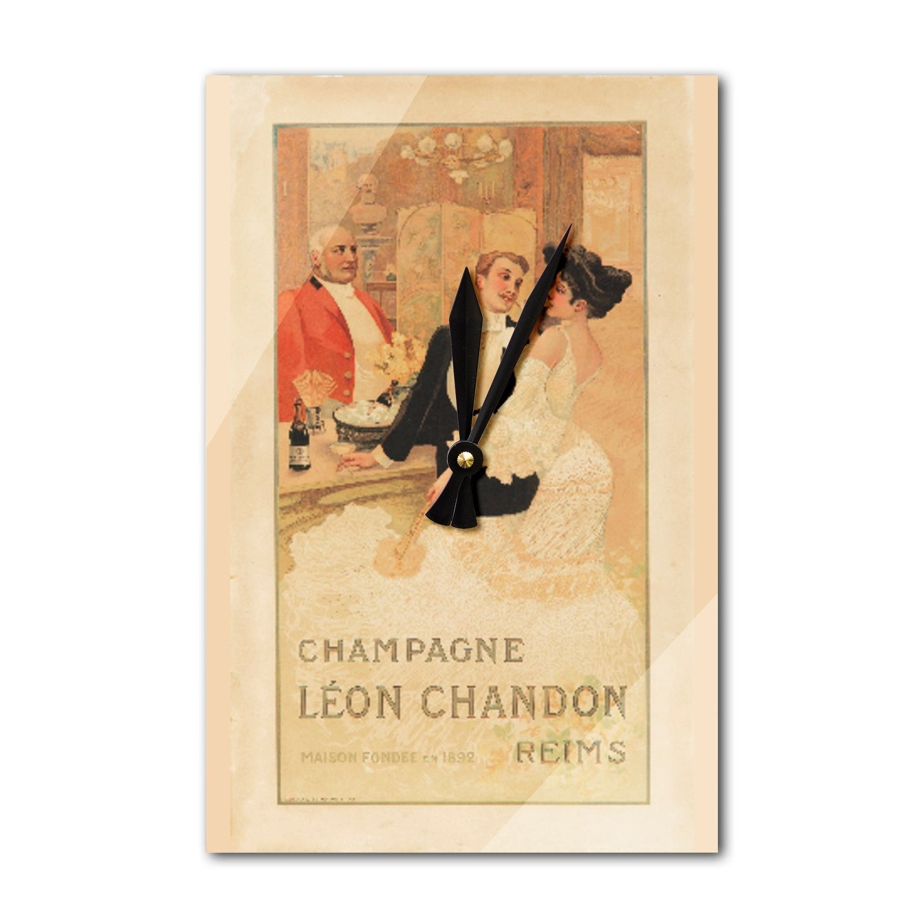 Shop Champagne Leon Chandon France c. 1900 - Vintage Ad (Acrylic ...
