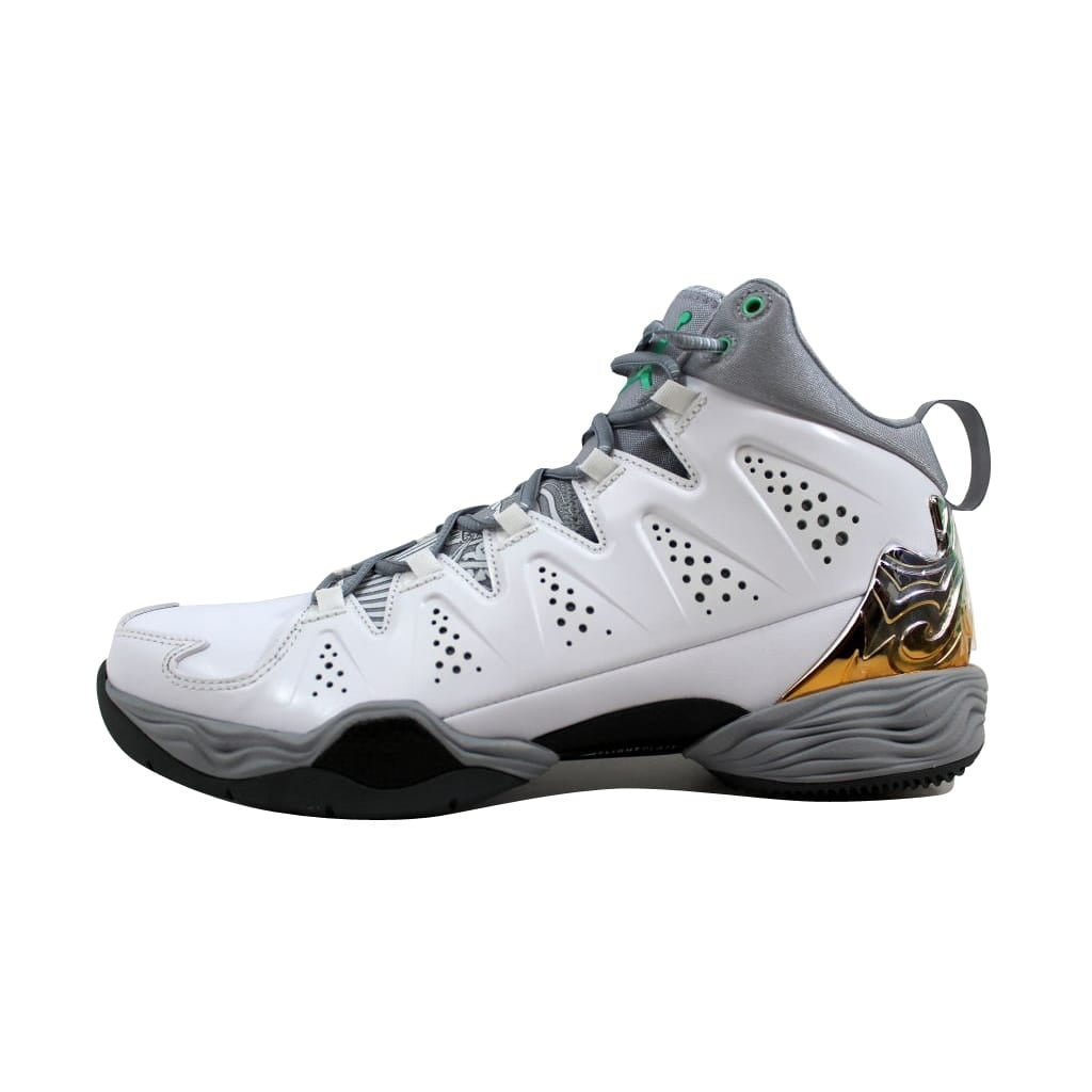 913b8397fe3 Shop Nike Men s Air Jordan Melo M10 White Green Glow-Wolf Grey-Cool Grey  629876-105 - Free Shipping Today - Overstock - 22340291