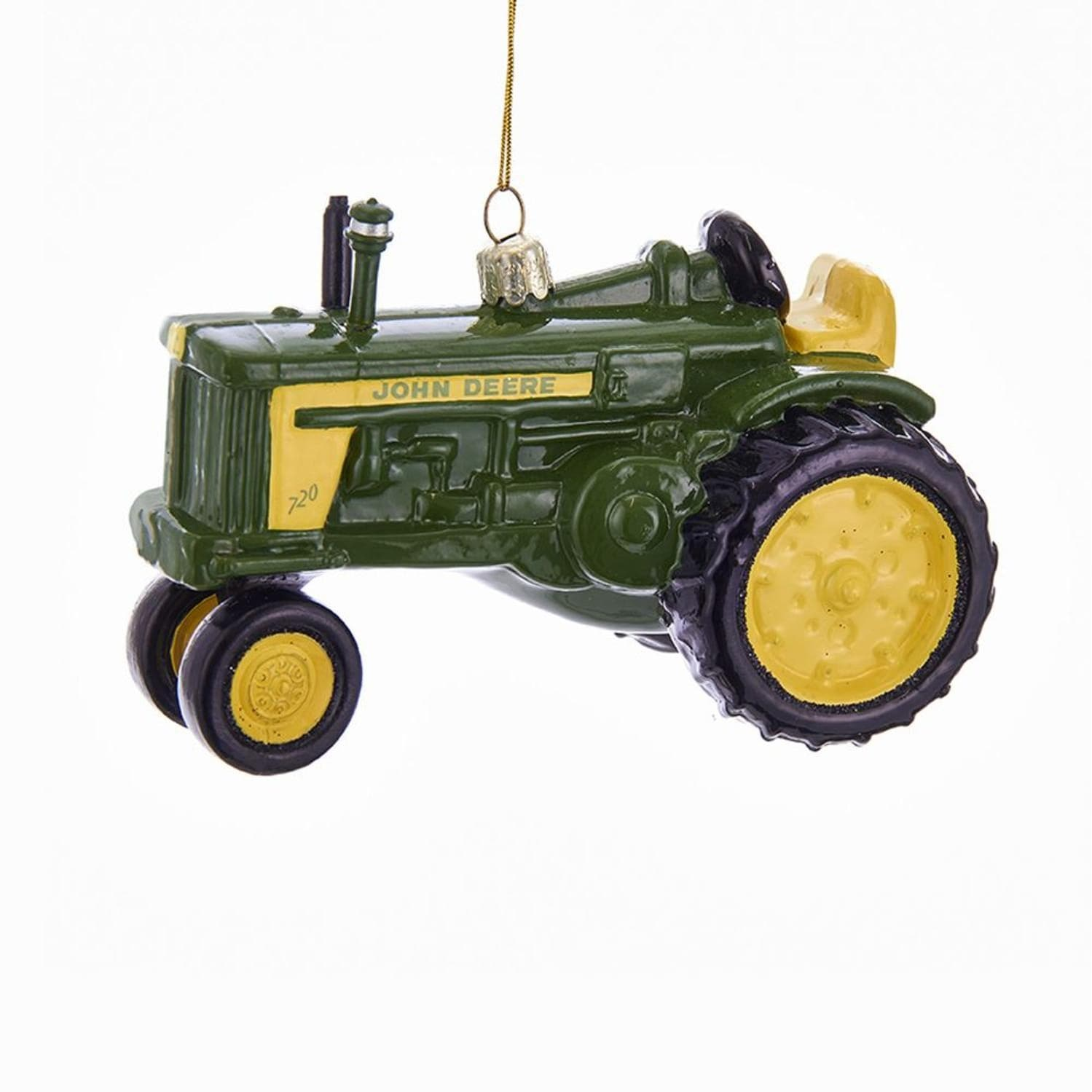 Pack of 6 Green and Yellow John Deere Tractor Ornaments Christmas ...