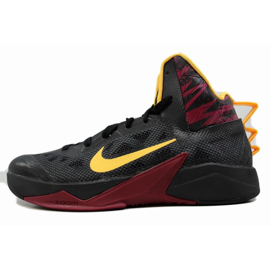 cca0c30e75fd Nike Men s Zoom Hyperfuse 2013 Black Laser Orange-Raspberry Red 615896-003  Size 8.5