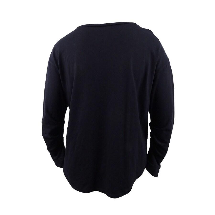 951c546b869 INC International Concepts Women's Plus Size Embellished Sweatshirt - Deep  Black