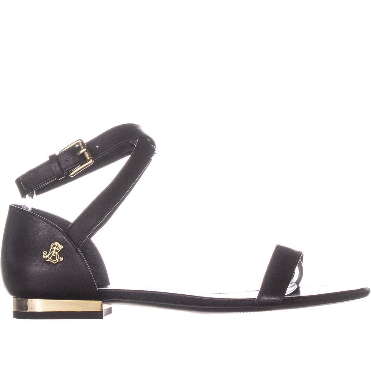 7180fc40bcd9 Shop Lauren Ralph Lauren Davison Ankle Strap Flat Sandals