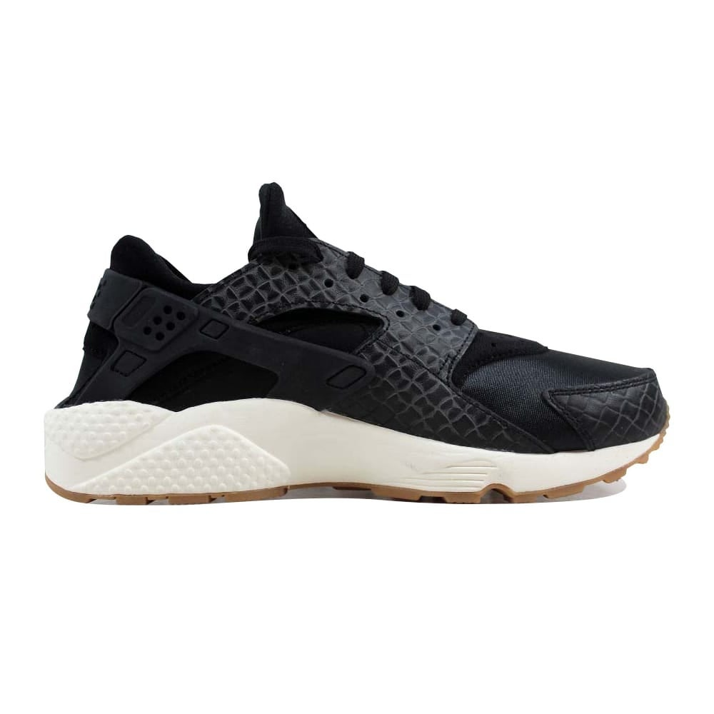 quality design fa640 d029d Shop Nike Air Huarache Run Premium Black Black-Sail-Gum Medium Brown 683818-011  Women s - Free Shipping Today - Overstock - 22531413