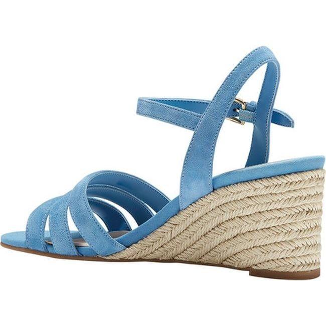 3217cf96ee4 Shop Cole Haan Women s Jasmine Espadrille Strappy Wedge Sandal Pacific  Coast Suede - Free Shipping Today - Overstock - 27508951