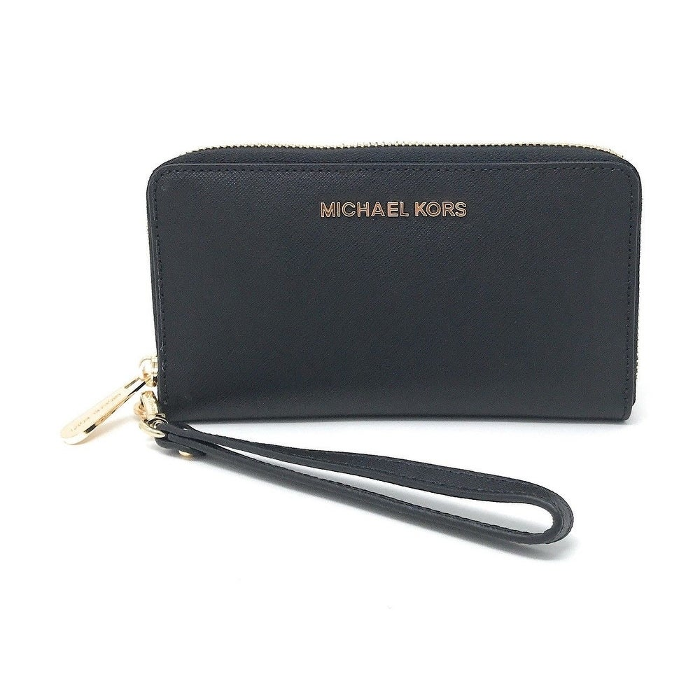 55a0ac03c8d513 Shop Michael Kors Jet Set Travel Large Multifunction Smartphone Saffiano  Leather Wristlet Case - Free Shipping Today - Overstock - 25576160