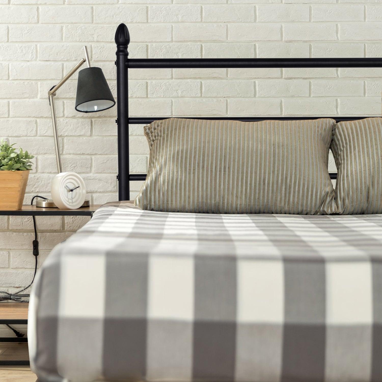 wood modern sierra queen bed iesierra platform studio size century brown baxton mid