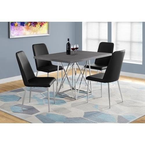 Monarch Specialties I Inch Wide Wood Top Metal Dining Table - 48 inch wide rectangular dining table
