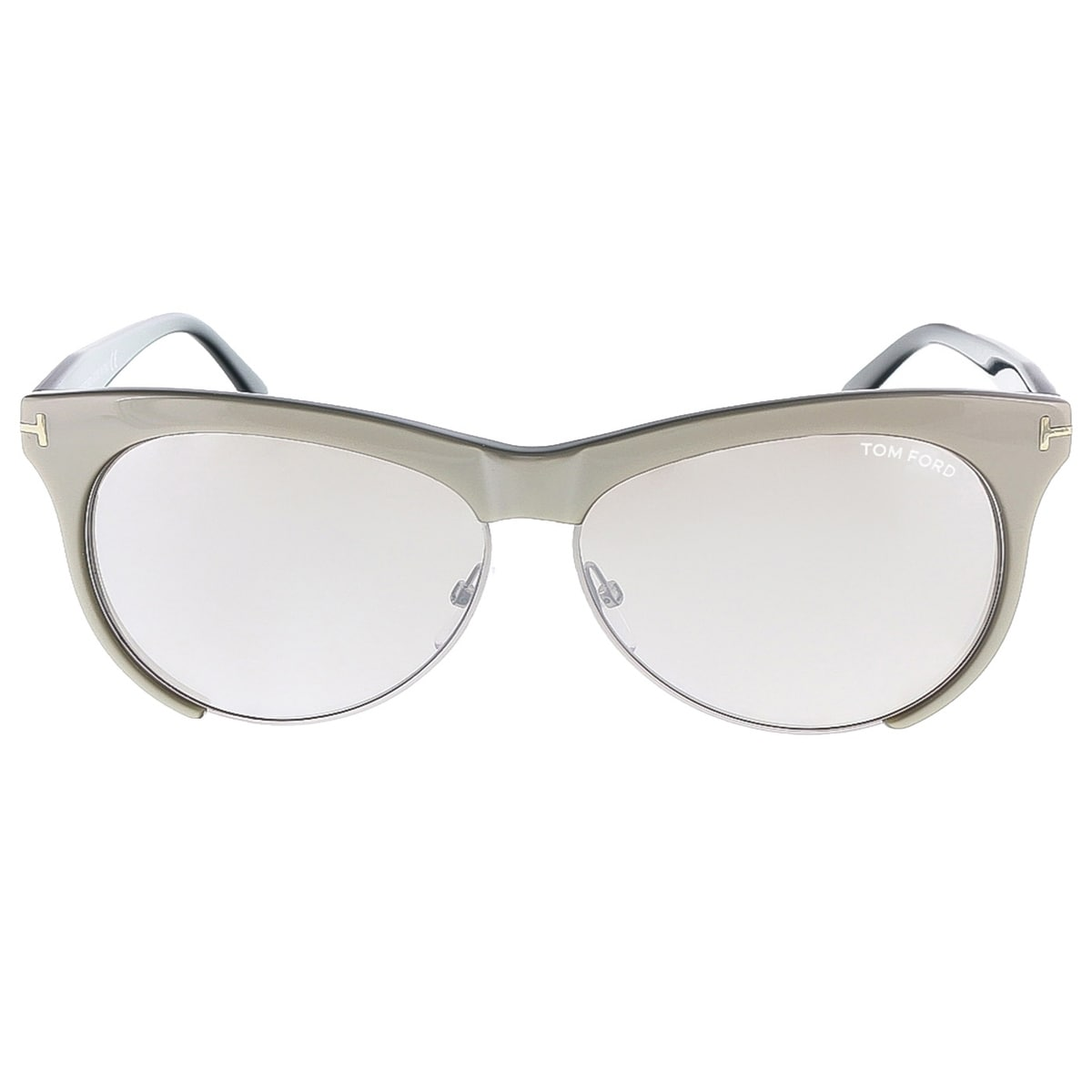 d23c1679c5 Shop Tom Ford FT0365 S 38G LEONA Grey  Silver Rectangle sunglasses - Ships  To Canada - Overstock - 13318427