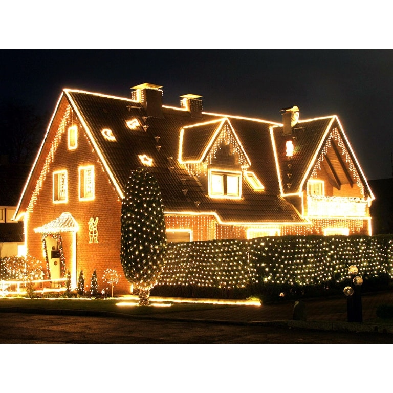 shop 72ft led starry string lights 200 warm white leds solar powered flexible copper wire christmas lights8 modes free shipping on orders over 45