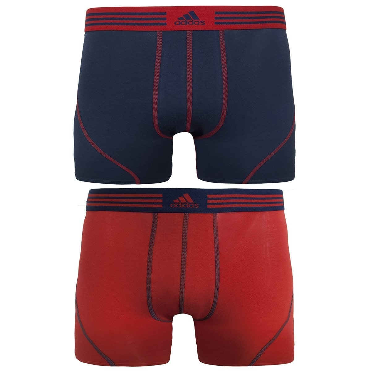 bb05763e7 Shop Adidas Men s Athletic Cotton Stretch Trunk Underwear (2-Pack) - Free  Shipping On Orders Over  45 - Overstock - 18758220