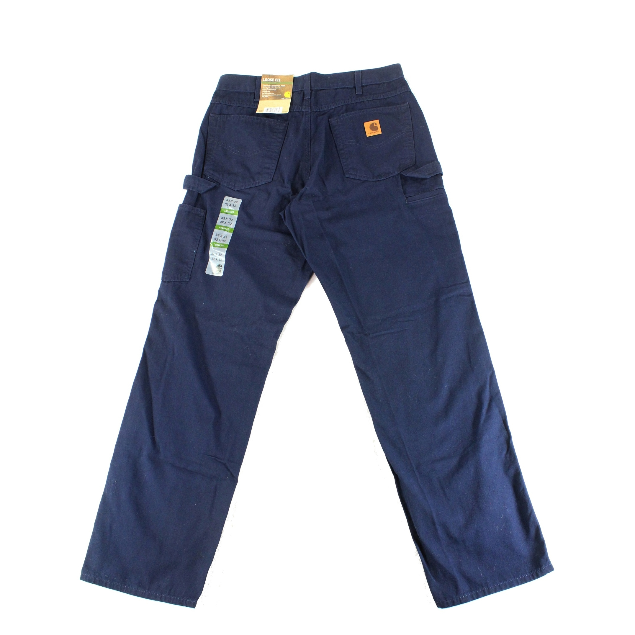 15ea3ceda Shop Carhartt Blue Mens Size 32X32 Loose Fit Canvas Carpenter Jeans - Ships  To Canada - Overstock - 27315968