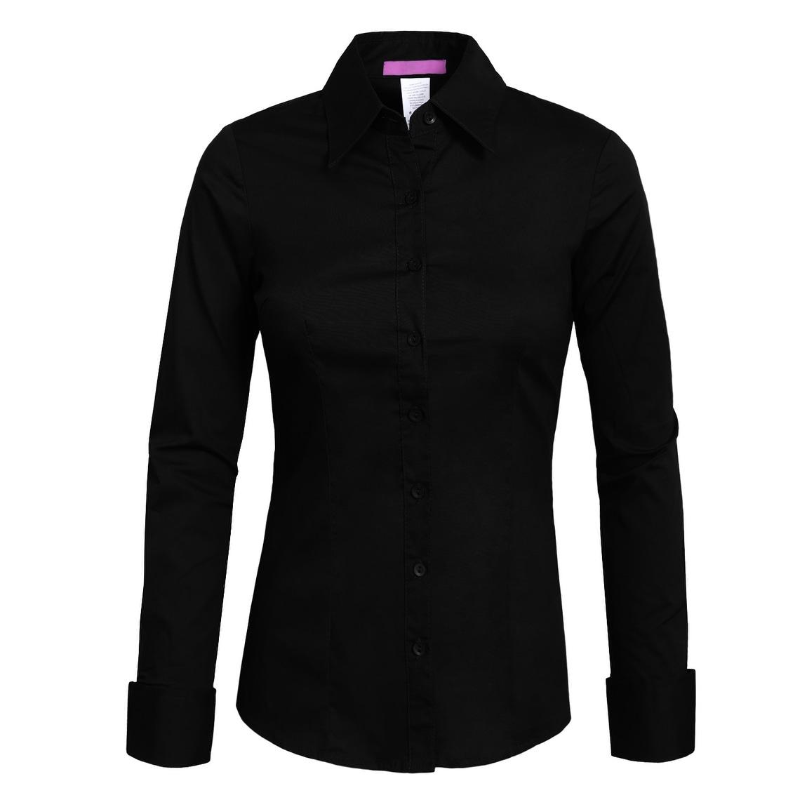Shop Ne People Womens Tailored Long Sleeve Button Down Shirt Newt04