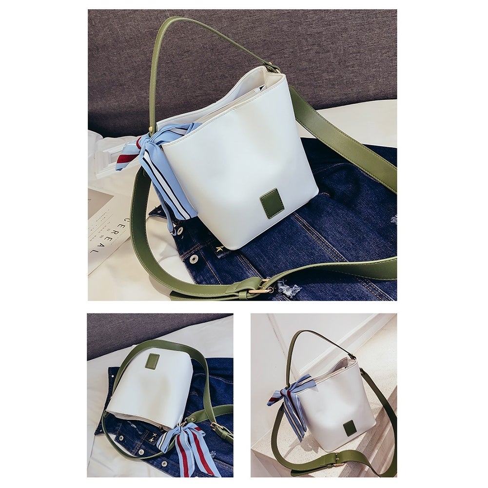 4c3062d5a66f9 Shop QZUnique Women s Bucket Handbag PU Leather Crossbody Shoulder Bag  Womems Top Tote Bags Handbag - Free Shipping On Orders Over  45 - Overstock  - ...