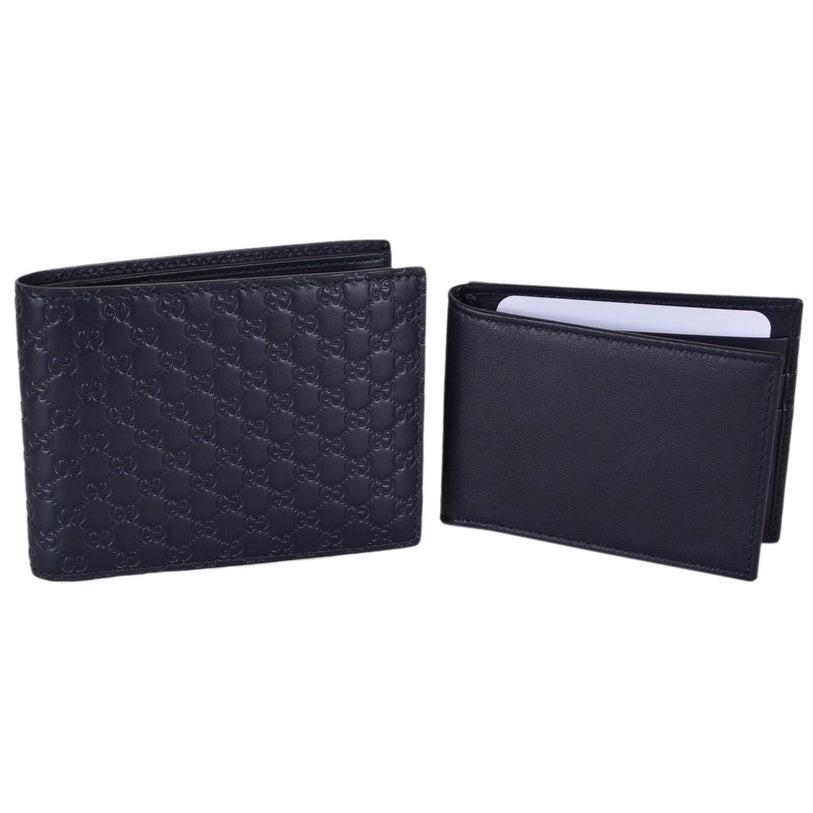 b732e8bd639 Shop Gucci Men s 333042 Blue Leather Micro GG Bifold Wallet W Removable ID  - 5