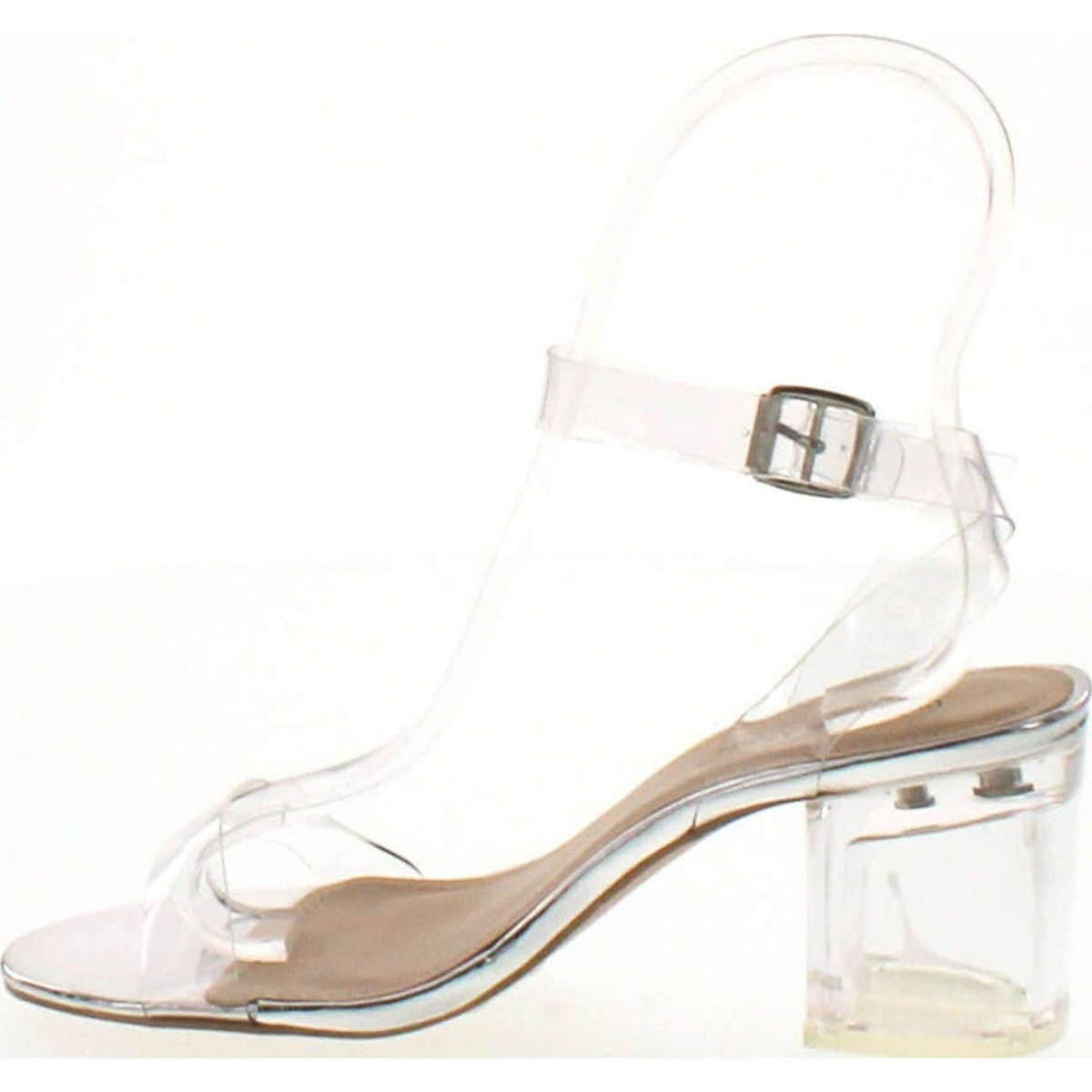 0f1065092 Shop Top Moda Womens Ivan-1 Lucite Clear Strappy Block Chunky High Heel  Open Peep Toe Sandal - Free Shipping On Orders Over $45 - Overstock -  14820225