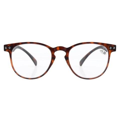 0edd04afe50 Shop Eyekepper Round Full Coverage Ultrathin Flex Frame Reading Glasses  Tortoise +2.0 - Free Shipping On Orders Over  45 - Overstock - 15913249