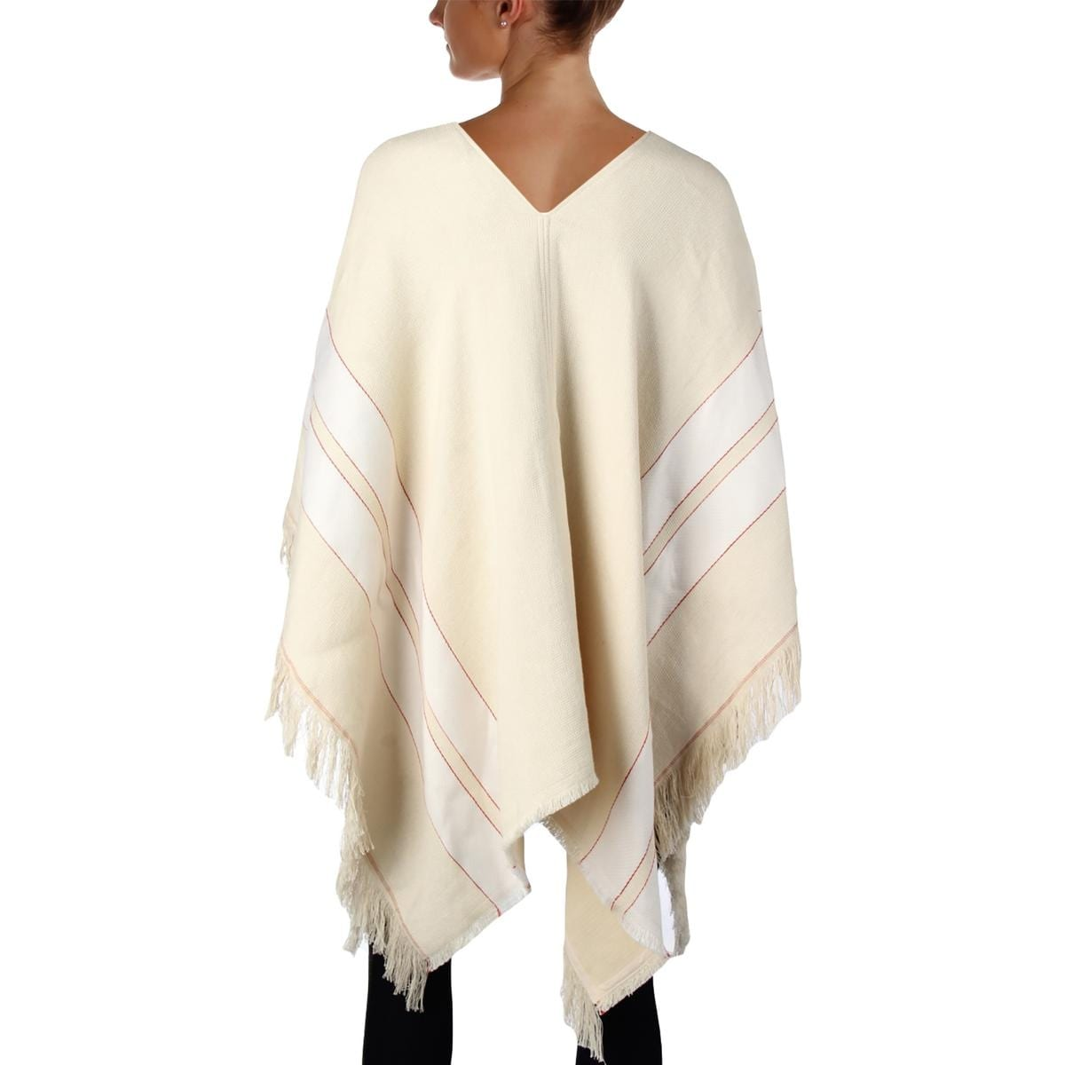 ee89dd7666b Shop Theory Womens Hibsann Poncho Linen Blend Fringe - O/S - Ships To  Canada - Overstock - 23335552