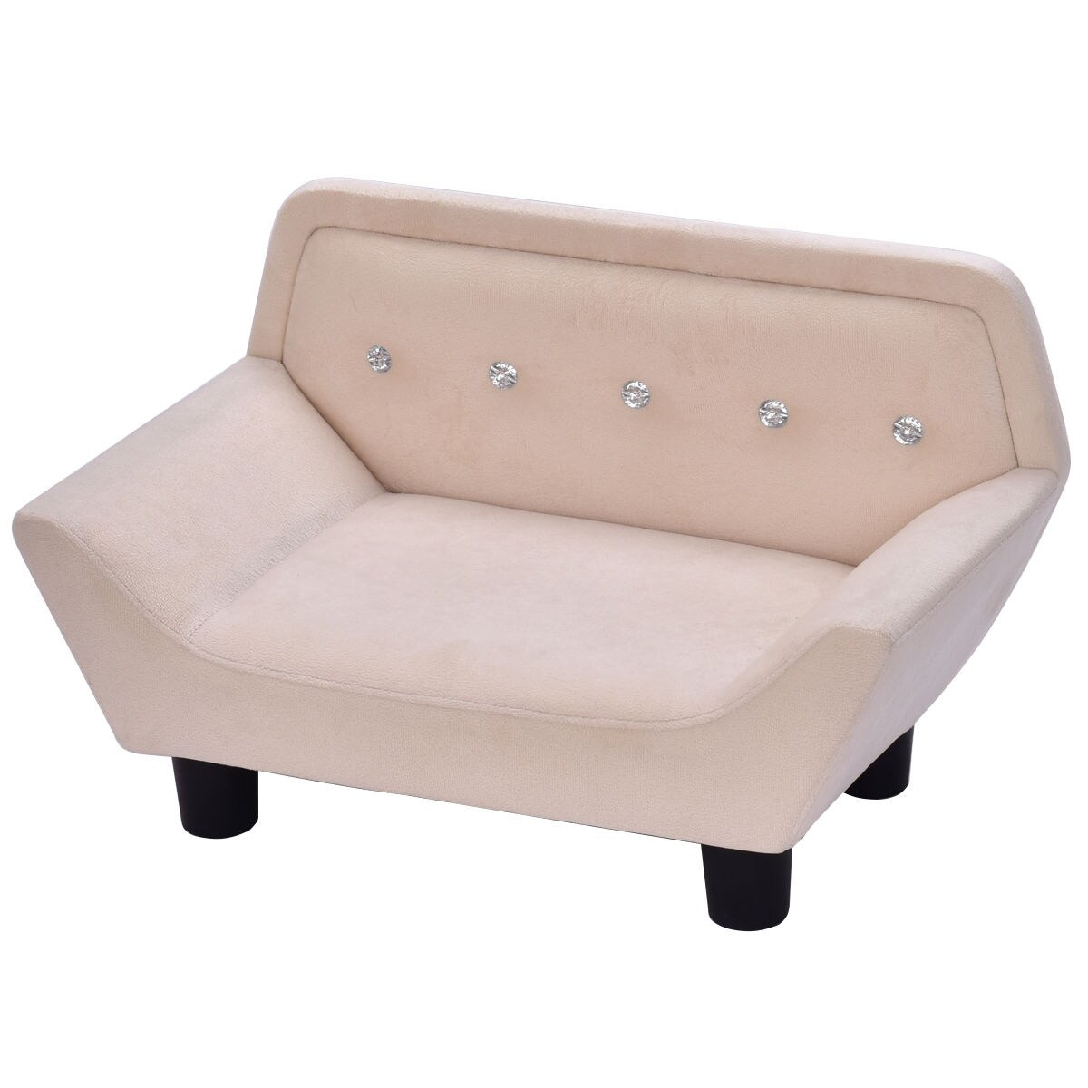 Shop Costway Beige Ultra Plush Soft Velvet Snuggle Pet Lounge Sofa Dog And  Puppy Bed   Free Shipping Today   Overstock.com   17996788
