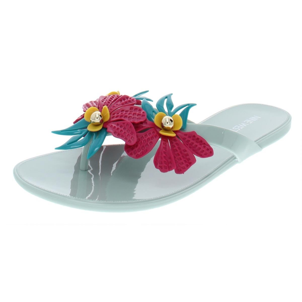 4dab8aee0 Shop Nine West Womens Macinee Flat Sandals Floral Thong - Free Shipping On  Orders Over  45 - Overstock - 27358431