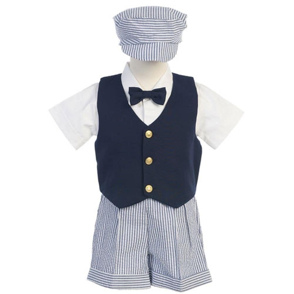 dbd6a1c6a6a4 Shop Boys Blue White Vest Shorts Easter Ring Bearer Suit 12M-4T - Free  Shipping On Orders Over $45 - Overstock - 23086156