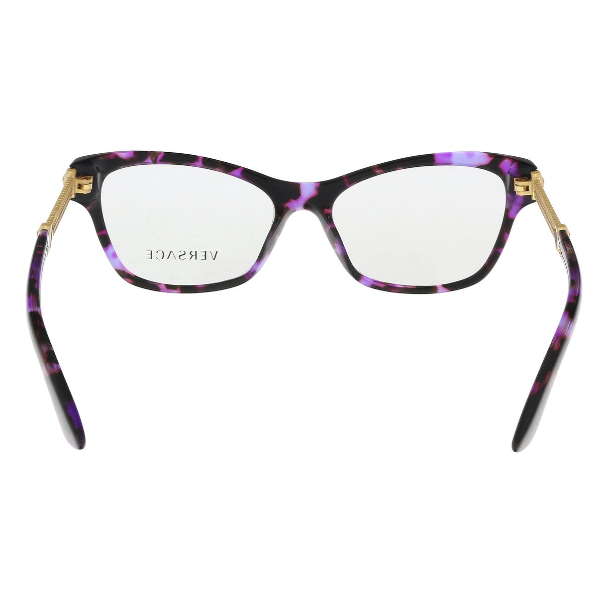 Shop Versace VE3214 5152 Violet Havana Optical Frames - 52-16-140 ...