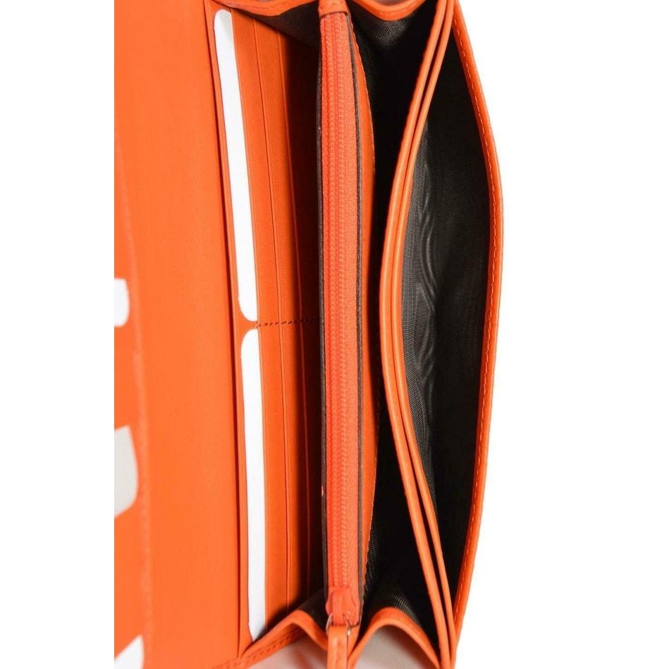 c992067f280d Shop Gucci Women's 449396 Orange Leather Micro GG Continental Bifold Wallet  - 7.5