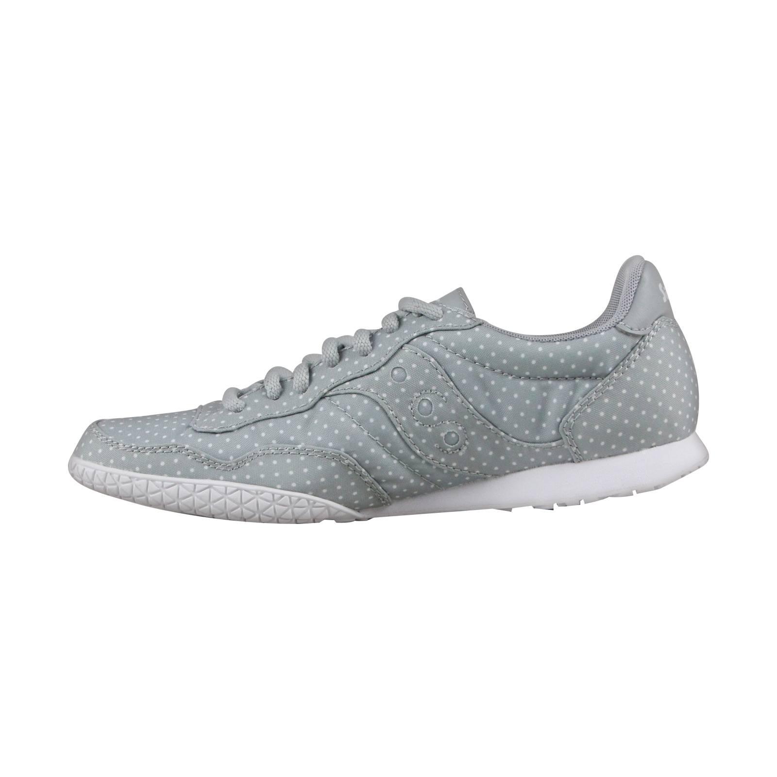 8ee02fd03f8d Shop Saucony Bullet Womens Gray Mesh Lace Up Sneakers Shoes - Free Shipping  On Orders Over  45 - Overstock - 20722112