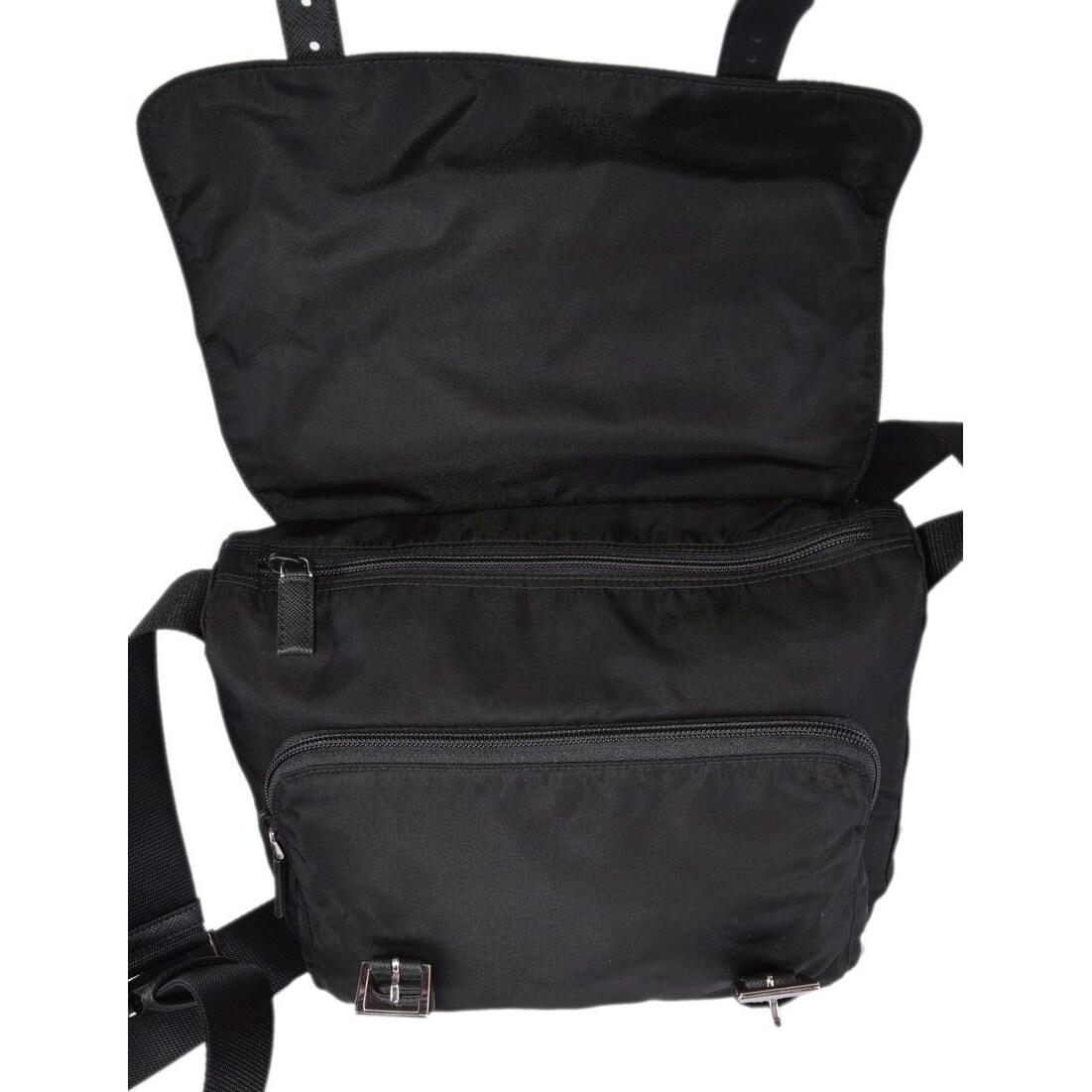 b1754be02cc81f Shop Prada 1BD953 Pattina Black Tessuto Nylon Messenger Bag Crossbody Purse  - Free Shipping Today - Overstock - 26440735
