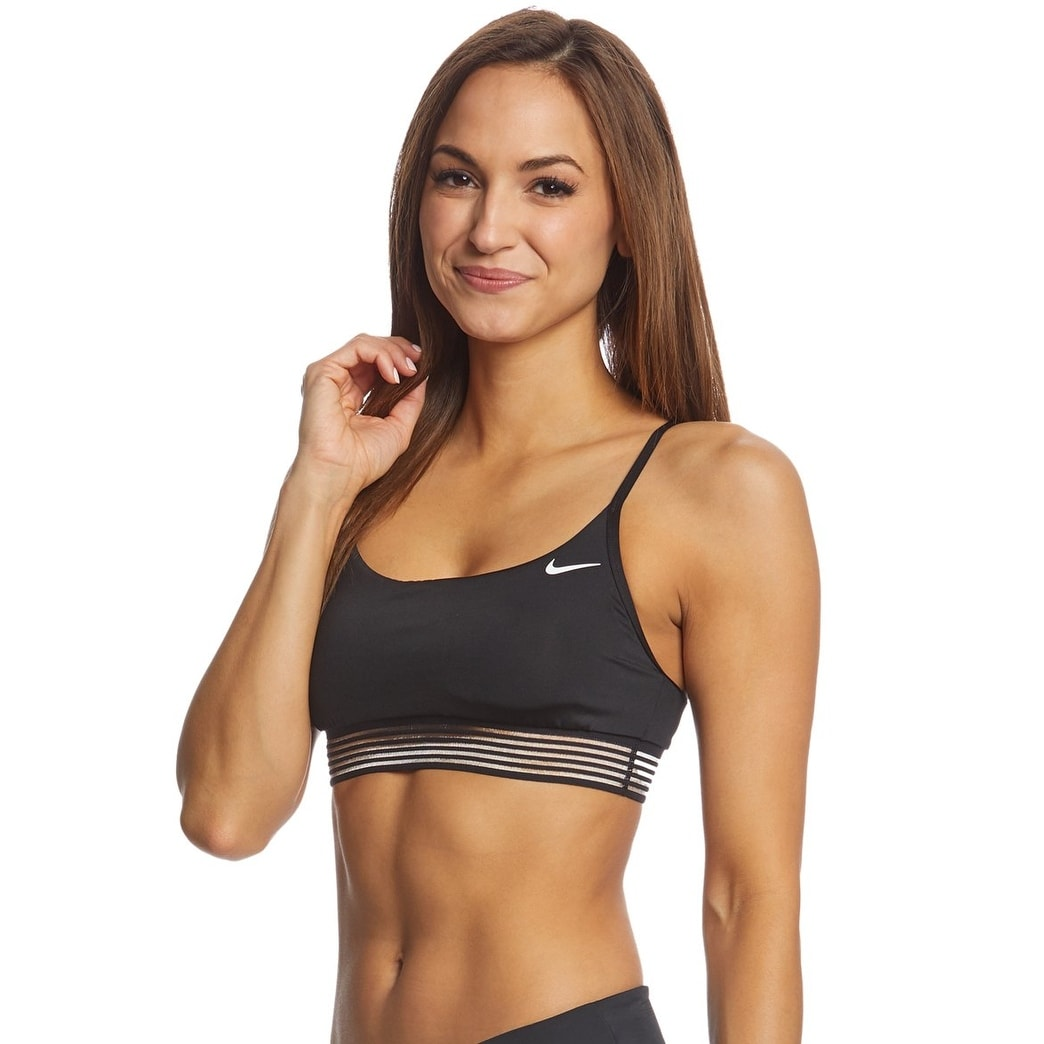 b3ba5a1bca3 Shop Nike Women Crossback Swimwear Sports Bikini Top NESS8267DS Black L -  Large - Free Shipping On Orders Over  45 - Overstock - 26056784
