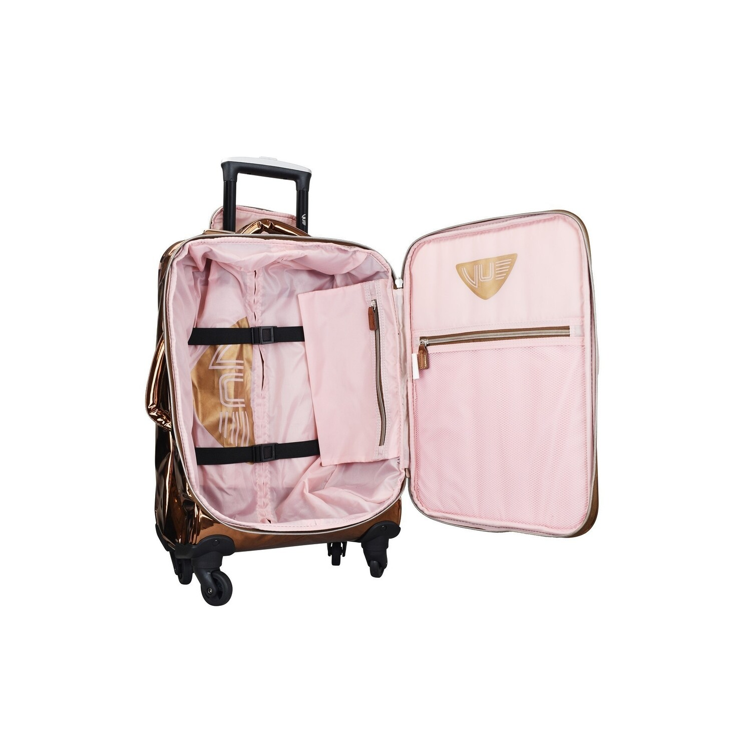 9bcf14666 Shop ATM Vue Metallic Collection Rose Gold Premium Carry On 3 Pc Luggage Set  - One Size - Free Shipping Today - Overstock - 28299121