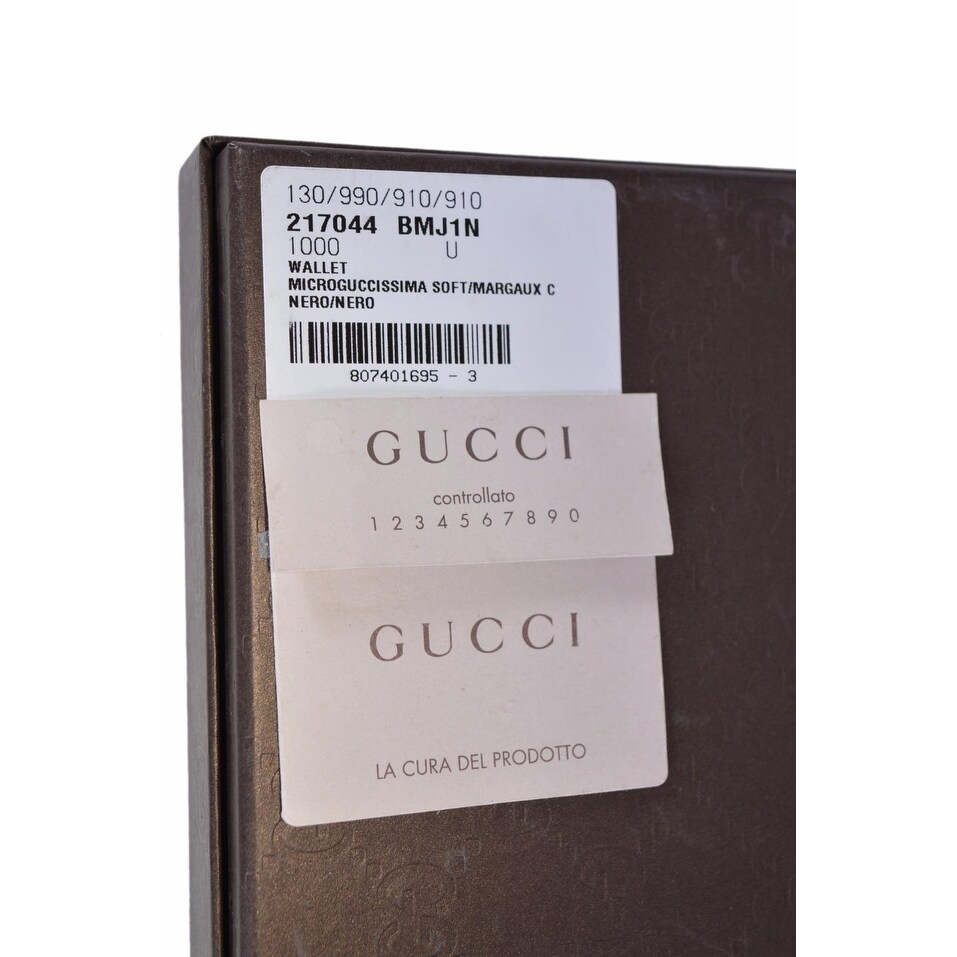d96f8fc3f8a Shop Gucci 217044 Men s Black Leather Micro GG Guccissima Trifold Wallet -  Ships To Canada - Overstock - 15910913