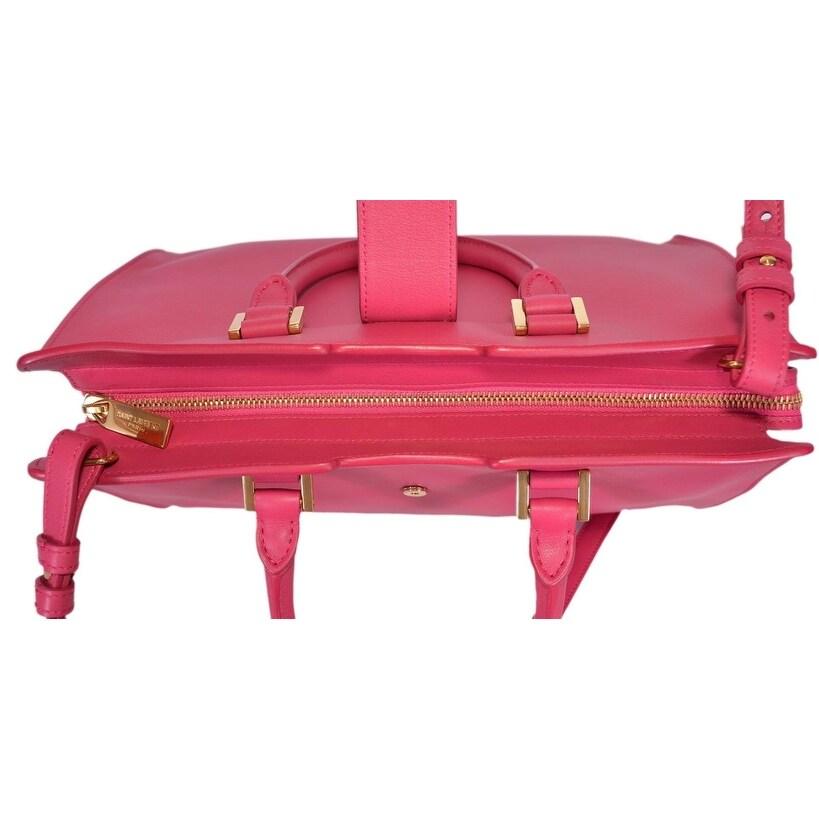 25b64bde2e9b Shop Saint Laurent YSL 311210 Small Classic Y Cabas Leather Handbag Purse -  Pink - 11.5