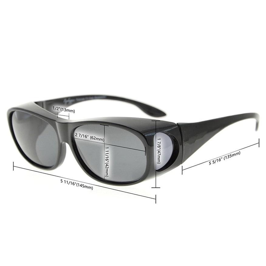 933ec4d706 Shop Eyekepper Retro Style Polarized Fitover Sunglasses for Prescription  Glasses (Red Frame G15 Lenses) - One size - Free Shipping On Orders Over   45 ...