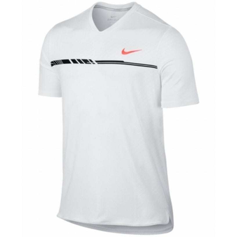 bf9cd462 Shop Nike NEW White Mens Size 2XL Court Dry V-Neck Challenger Tennis Shirt  - Ships To Canada - Overstock - 19677668