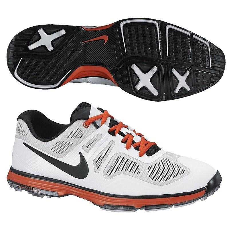 Shop Nike Men s Lunar Ascend II Light Grey Black White Orange Golf Shoes  628340-001 - Free Shipping Today - Overstock.com - 19748350 68a8c3b088d