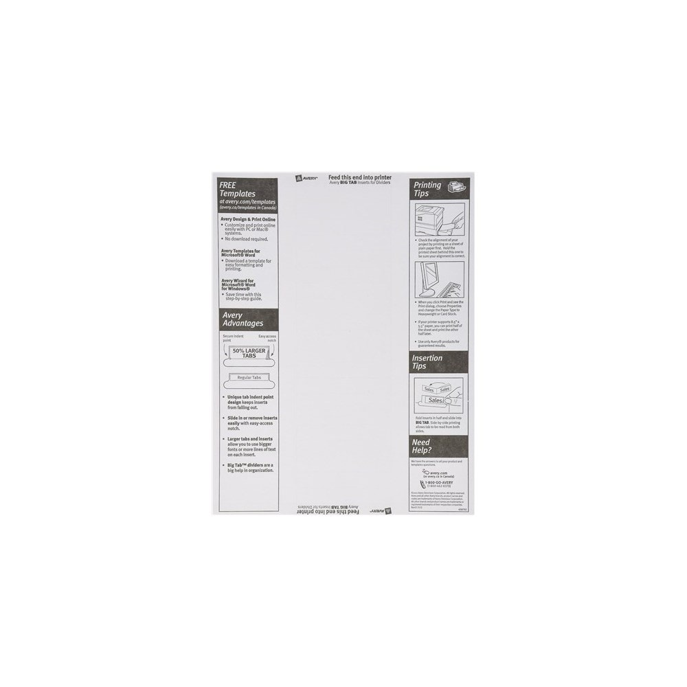 Shop Avery 11112 8 Tab Clear Worksaver Big Tab Paper Dividers