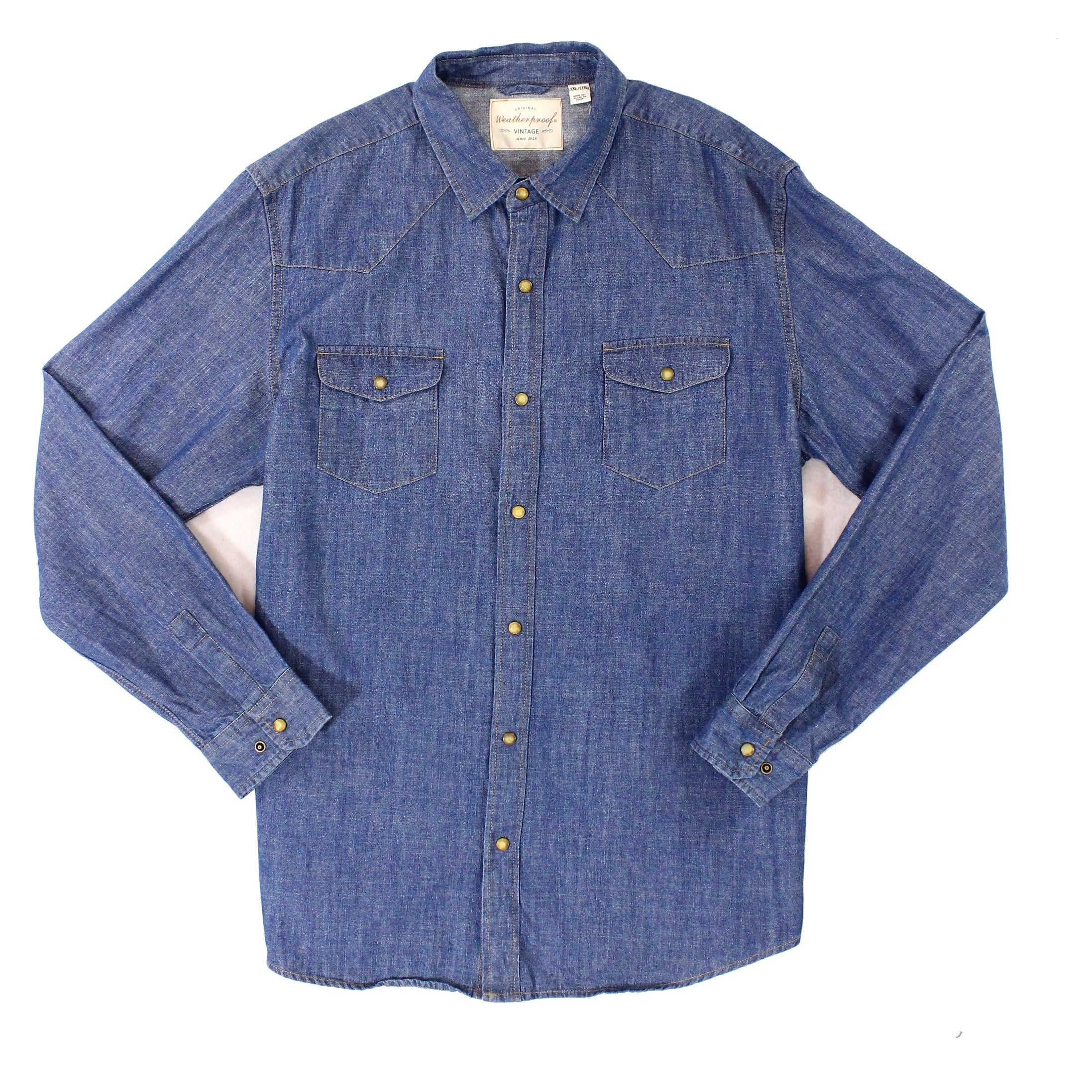 2d366ffb Shop Weatherproof Vintage Mens Denim Button Down Shirt - Free Shipping On  Orders Over $45 - Overstock.com - 22275758