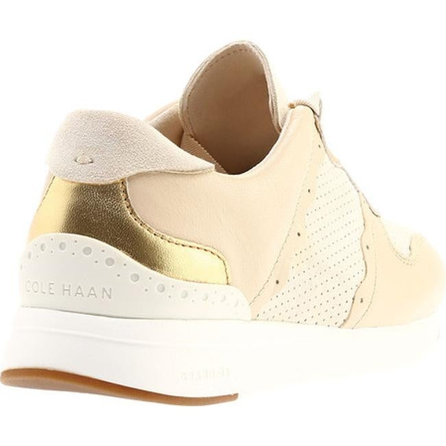 937360634c1 Shop Cole Haan Women s Grandpro Sneaker Sandshell Leather Kid Suede CH Gold Optic  White - Free Shipping Today - Overstock - 22864105