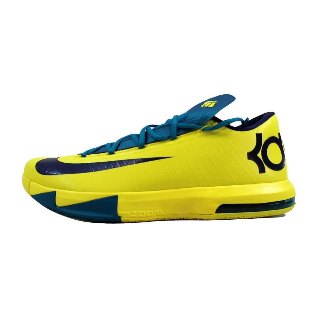 reputable site 99d44 97e71 Shop Nike Men s KD VI 6 Sonic Yellow Midnight Navy-Tropical Teal Seat  Pleasant 599424-700 - Free Shipping Today - Overstock.com - 22340203