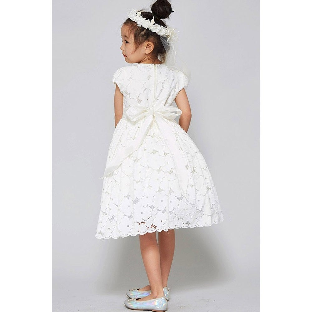 Shop Good Girl Little Girls Off White Cotton Embroidered Flower Girl