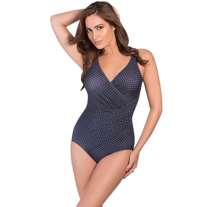 84f4dce585454 Shop Miraclesuit Pin Point DD-Cup Oceanus Underwire One Piece Swimsuit -  Blue - Free Shipping Today - Overstock.com - 17662309