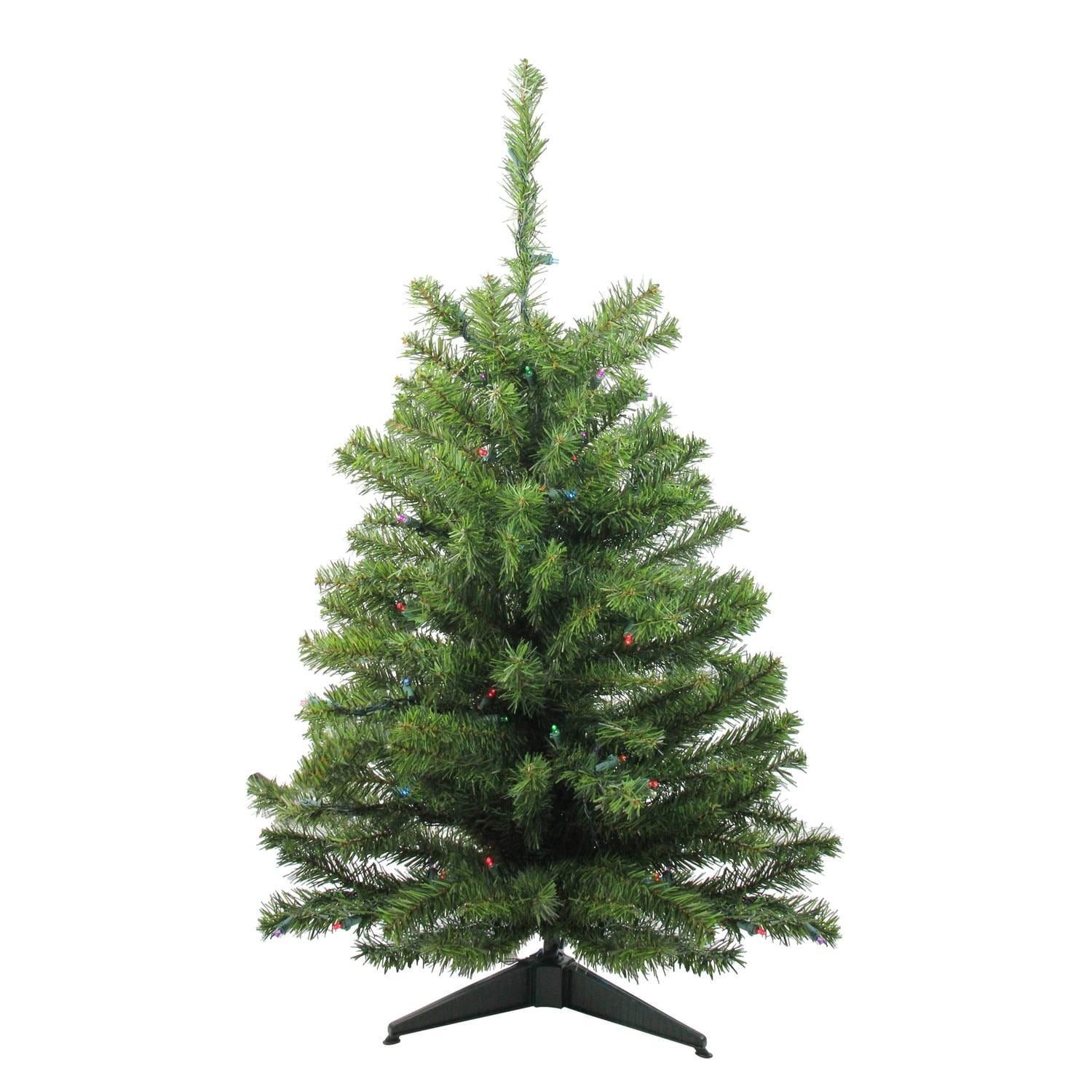 3\' Battery Operated Pre-Lit LED Pine Artificial Christmas Tree ...