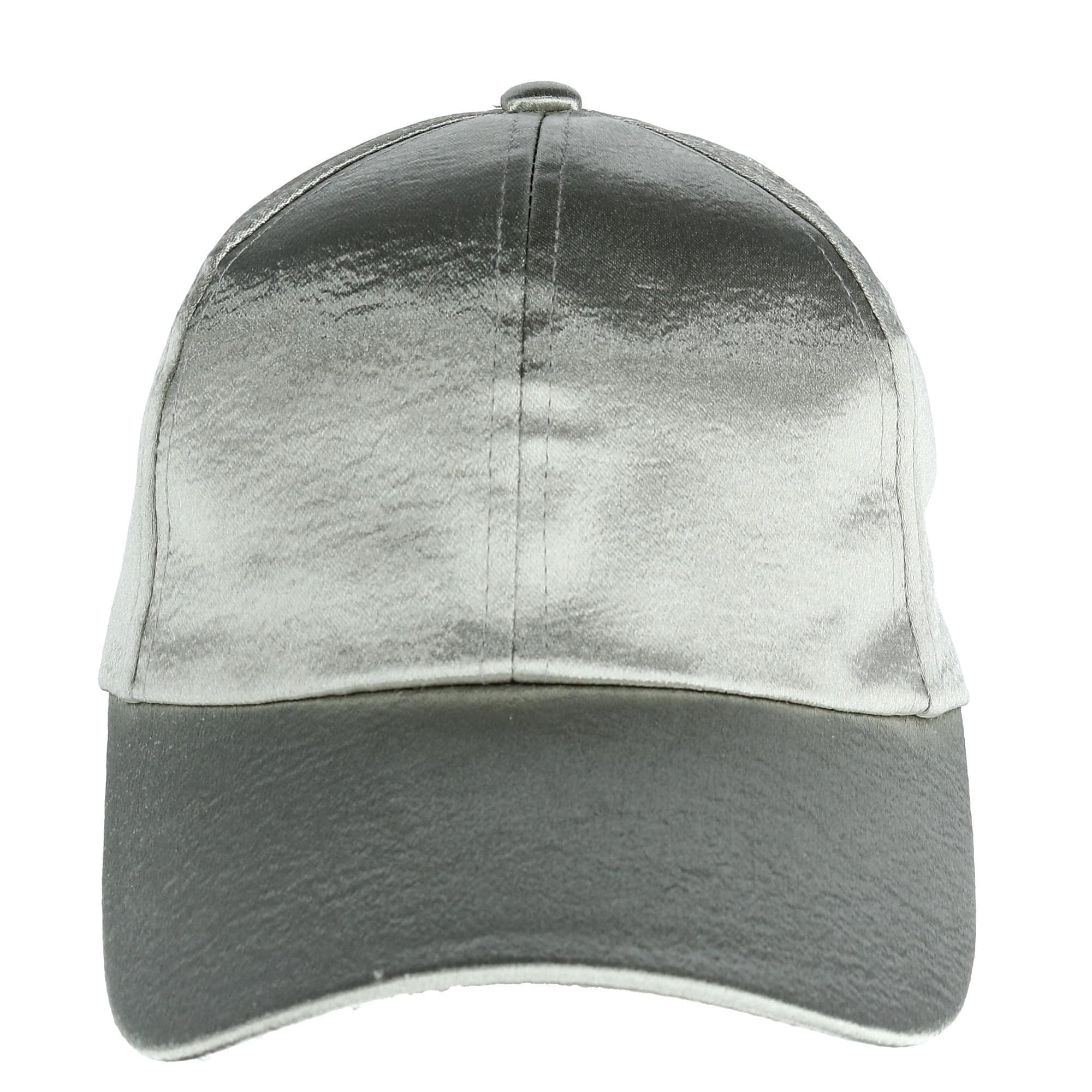 Shop CTM® Women s Textured Satin Baseball Cap - Free Shipping On Orders  Over  45 - Overstock - 23600776 1b7cee6124eb