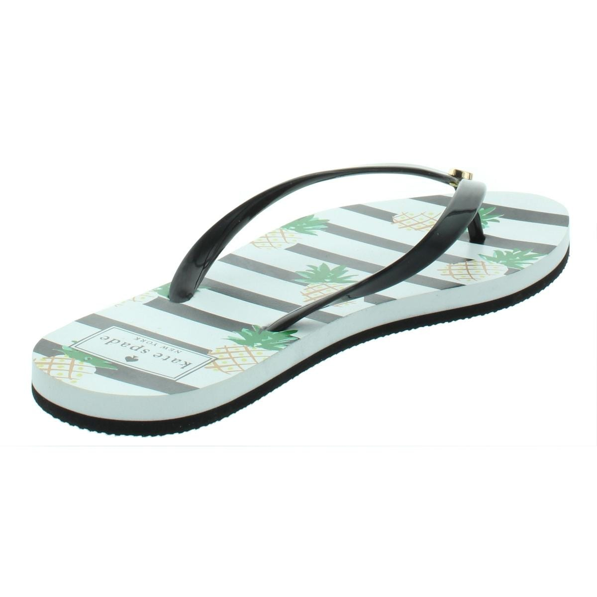 2f745eeea7bc Shop Kate Spade Womens Nassau Flat Sandals Pineapple Striped - Free  Shipping On Orders Over  45 - Overstock - 26639458