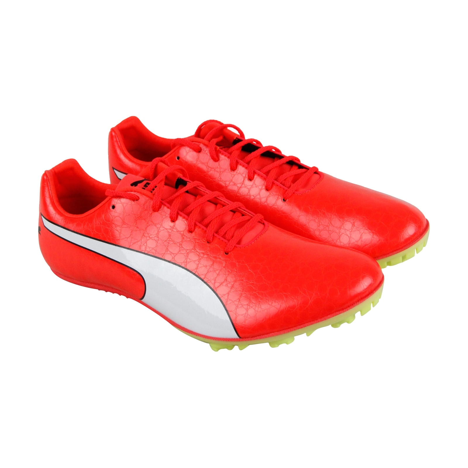 Puma Evospeed Sprint 8 Mens Red Leather Athletic Lace Up Running Shoes e03ba29f776f