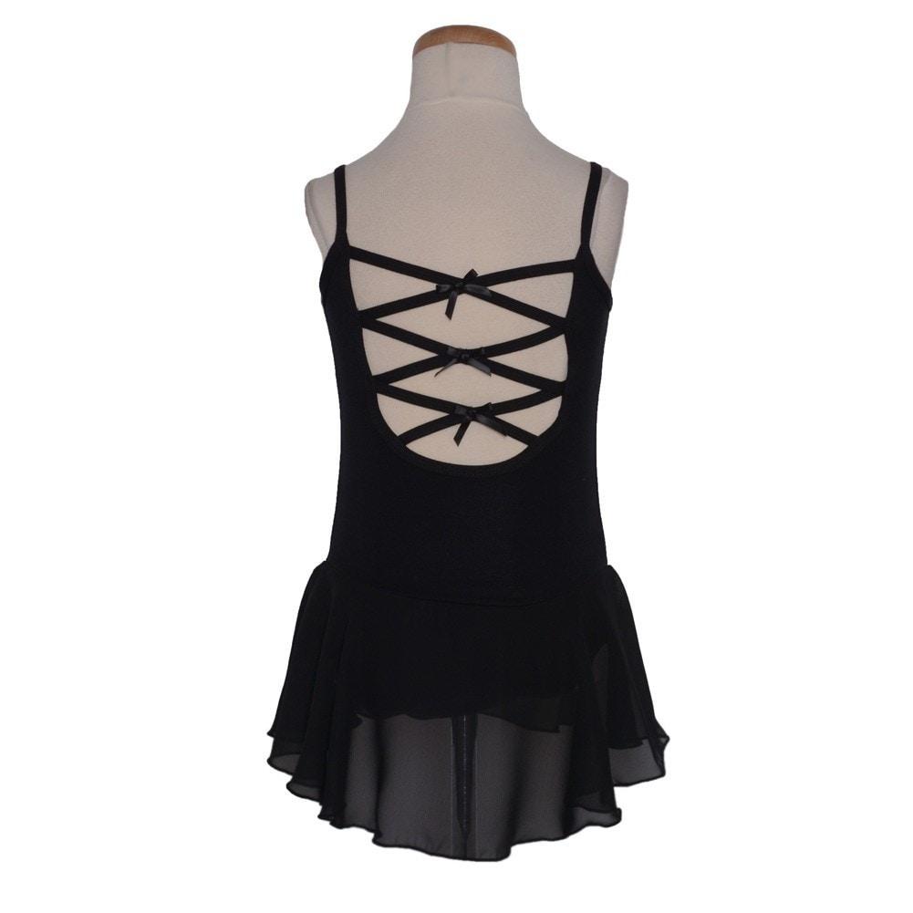bce3037f80ed Shop Danshuz Black Empire Princess Seam Bows Georgette Dance Dress ...