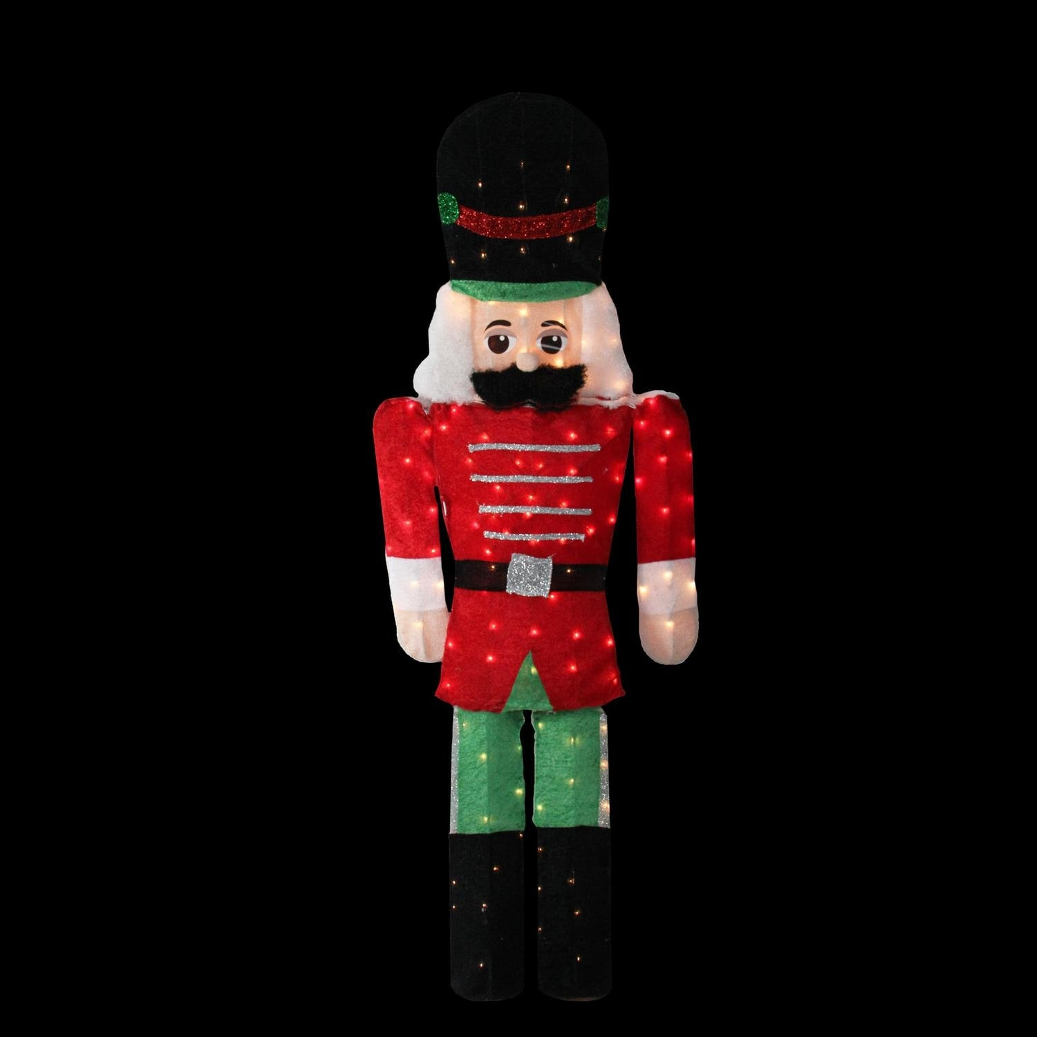 6 pre lit candy cane lane 2 d toy soldier christmas outdoor decoration free shipping today overstockcom 24327253