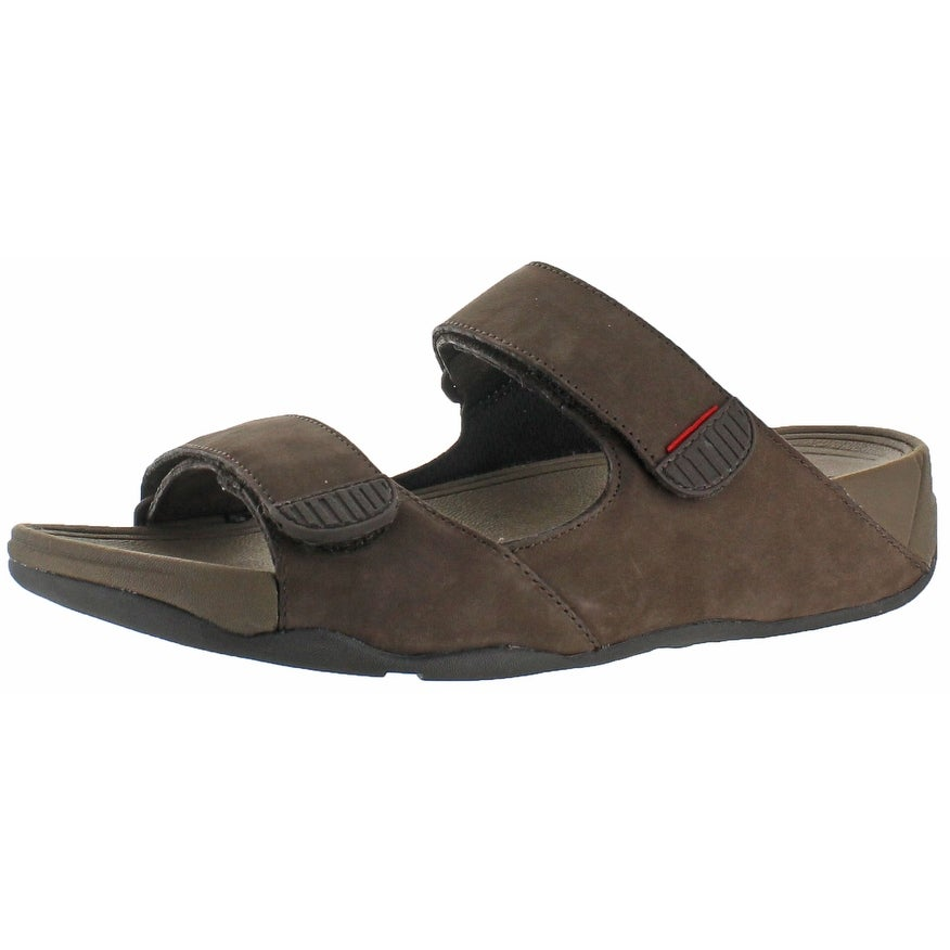 d16784e8ee32 Shop FitFlop Gogh Men s Adjustable Buckle Slide Sandals - Free Shipping On  Orders Over  45 - Overstock - 20636496