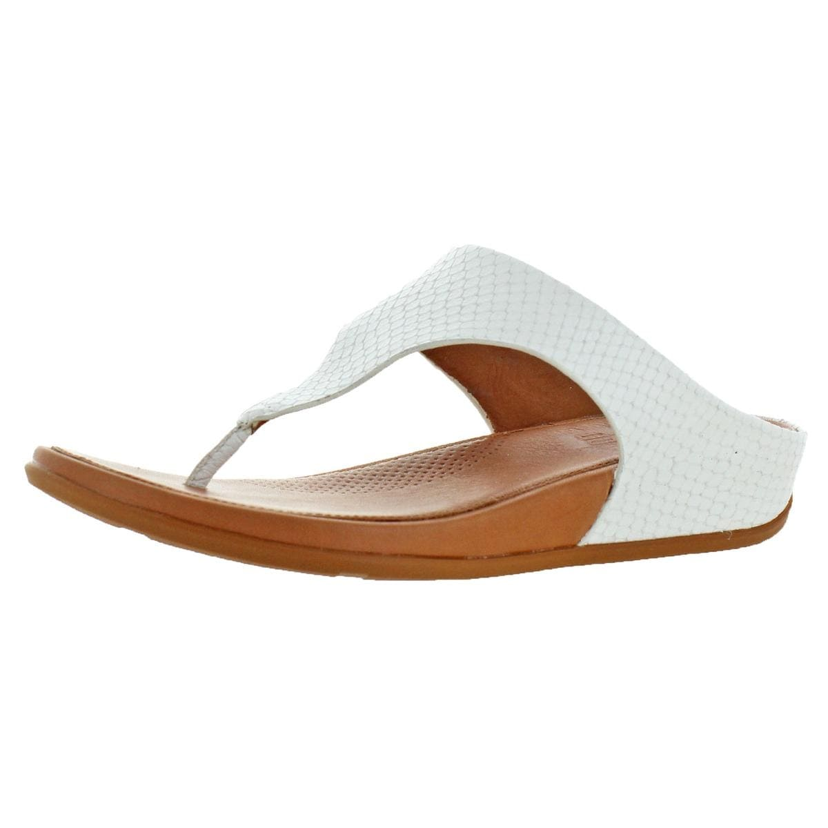57bd3d26dd050 Shop Fitflop Womens Banda Thong Sandals Wedge - Free Shipping Today -  Overstock - 26030208