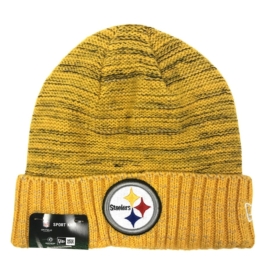 ... 2018 sideline bobble hat 7189a ee775  norway shop new era pittsburgh  steelers knit beanie cap hat nfl 2017 kickoff 11461128 free shipping 0457f66d2